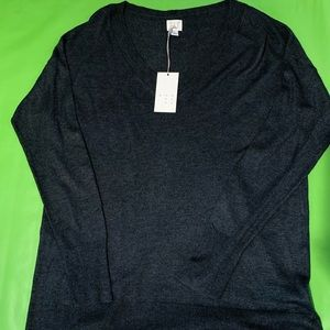 New A New Day dark grey light sweater, L